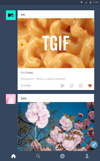 Screenshot 8 for Tumblr's Android app'