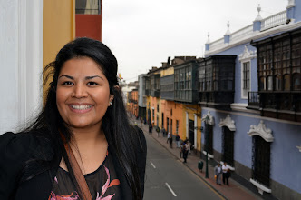 Photo: Namita at Gonzo's office in downtown Lima
