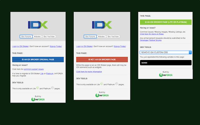 IDX Broker Developer Tools (by imFORZA)