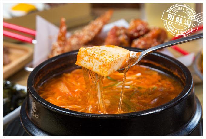 大月韓食創意料理菜單雞肉辣豆腐鍋