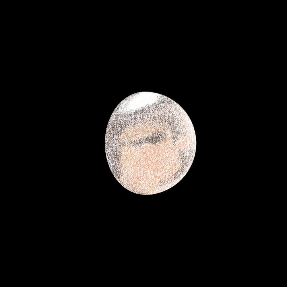 Photo: Mars le 19 avril 2018, à 6h12 HL. T406 à 470X en bino, avec et sans filtre rouge. Turbu forte.