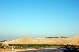 Photo: Tall el-Hammam, the biblical Sodom and largest of the Cities on the Plain, showing the upper tell