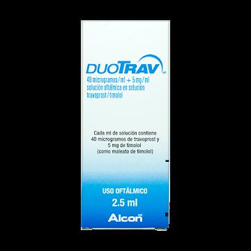Duotrav 0.04/5Mg Frasco   X2.5Ml. Alcon  Travoprost Timolol