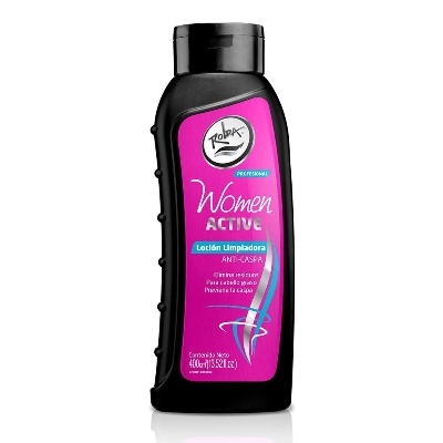 champu women active locion limpiadora anticaspa 400ml