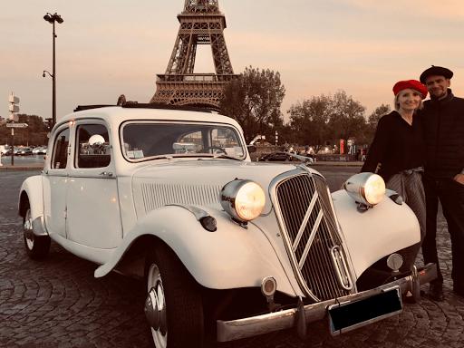 Vistit paris in vintage car Midnight in Paris