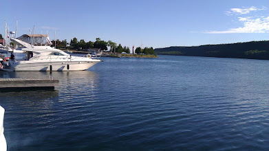 Photo: Gore Bay Marina from our stern