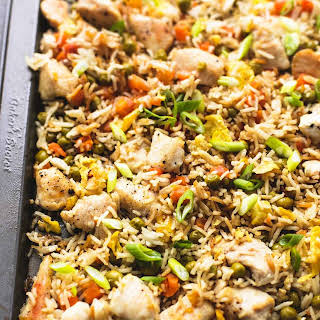 One Sheet Pan Chicken Fried Rice.