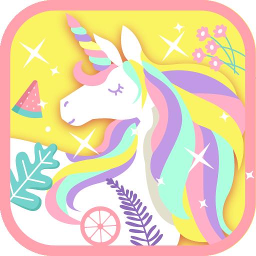 Cute Rainbow Unicorn Theme Pink Wallpaper Icon Aplikasi Di
