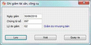 Sửa công cụ, chi phí phần mềm kế toán 3tsoft