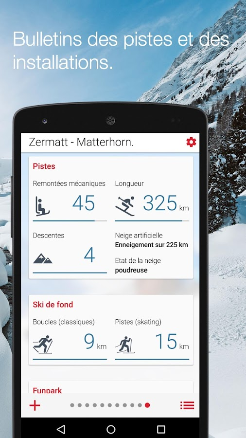 Swiss Snow Report – Capture d'écran