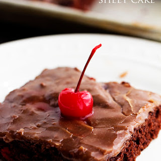 Cherry Chocolate Sheet Cake
