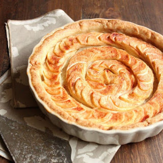 Apple Tart with Almond Paste Filling.