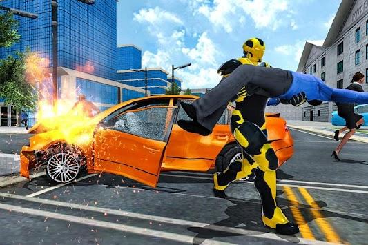 Grand Iron Kungfu Flying Superhero Rescue Mission apk screenshot