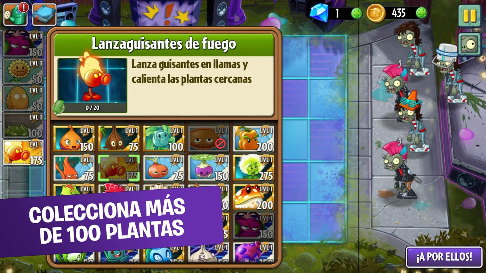 Plants vs. Zombies™ 2: captura de pantalla
