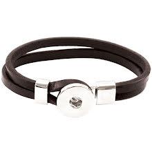 Tim Holtz Assemblage Cuff Bracelet Brown W/Loop Hitch Enclosure