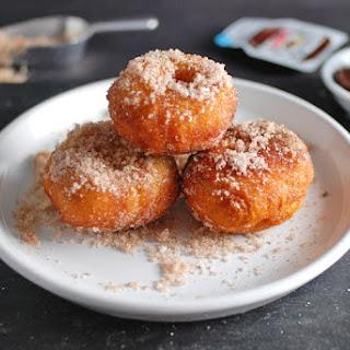 Cinnamon Sugar Mini Doughnuts with Nutella Dipping Sauce
