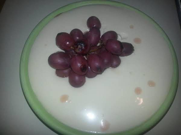 Panna Cotta With Roasted Grapes Recipe