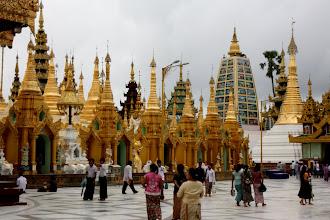 Photo: Year 2 Day 54 -  Stupas in Shwedagon Paya in Yangon