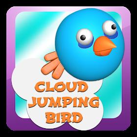 Облако Прыжки Птица
