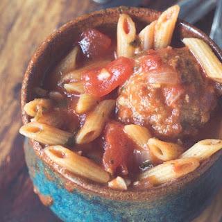 Meatball Penne Soup