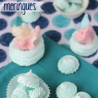 Cotton Candy Meringues.