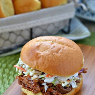 Slow Cooker Root Beer Pulled Pork Sandwiches.