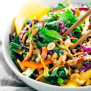 Crunchy Thai Salad with Peanut Dressing Recipe
