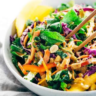 Crunchy Thai Salad with Peanut Dressing.