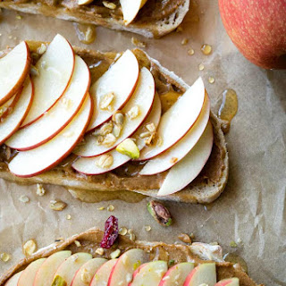 Peanut Butter Apple Toast for Breakfast.