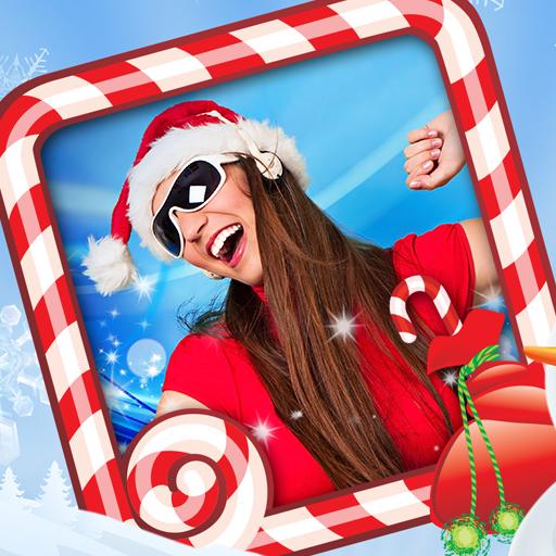 面白いクリスマスフォトフレーム 攝影 App LOGO-APP試玩