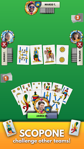 Scopa - Free Italian Card Game Online apkpoly screenshots 4