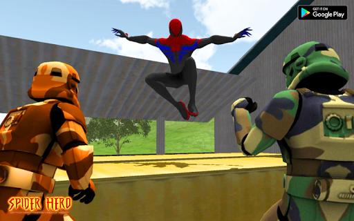 Spider Hero Battle Rope Master Rescue Mission screenshot 3