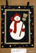 "Photo: #44-S, Sharon Garner, ""Single Snowman Wall Hanging"""
