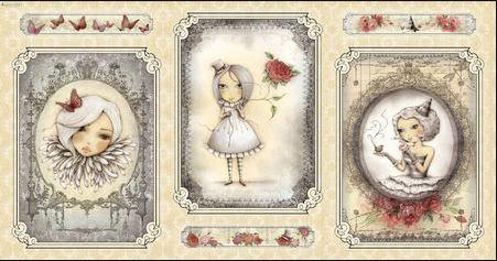 Mirabelle, La Vie En Rose, Cameo Girl, panel, beige (10902)