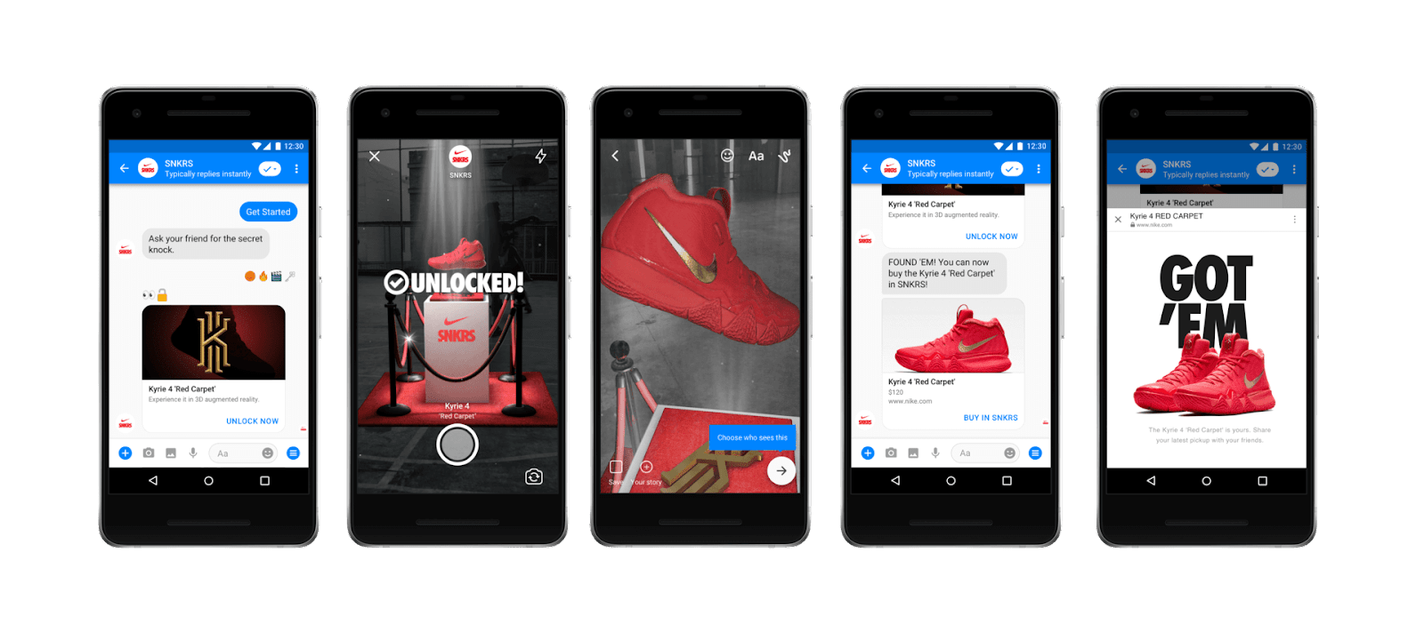 (Application mobile SNKRS) - AR chaussures