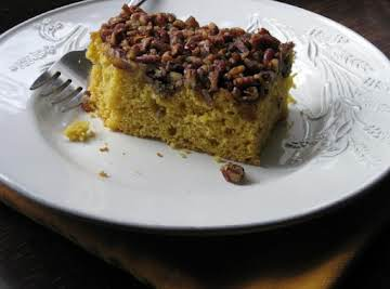 Pumpkin Cake with Crumb Topping