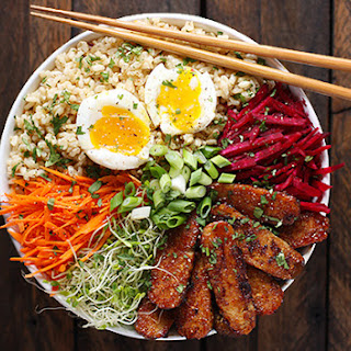 Smoky Tempeh Vegetable and Rice Bowl