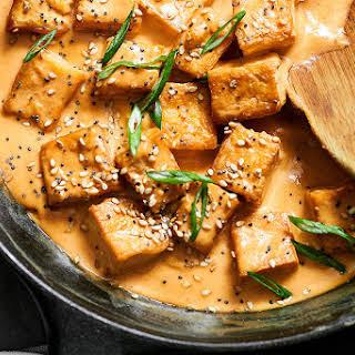 Spicy Tahini Tofu Stir Fry.