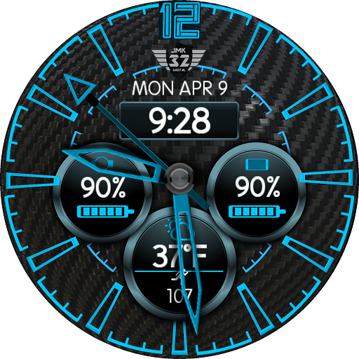 CARBON BLUE Watchface for WatchMaker