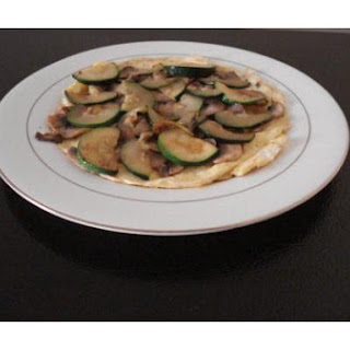 Zucchini Mushroom and Egg Omelette
