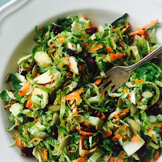 Maple Brussels Sprout Slaw