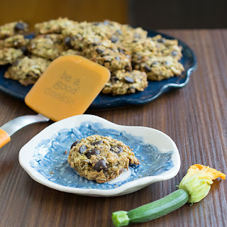 Vegan Gluten-free Zucchini Chocolate Chip Cookies.