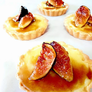 Honey Dried Fig Custard and Almond Tart Recipe