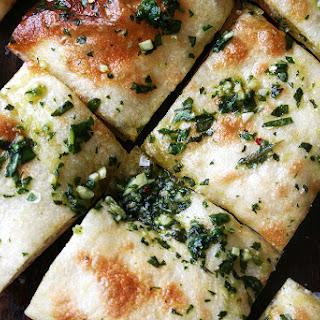 Naked Pizza with Basil & Garlic