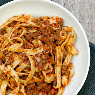 Weeknight Bolognese with Fettuccine.