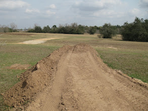 Photo: Widening and raising the end of the Phase IV right of way