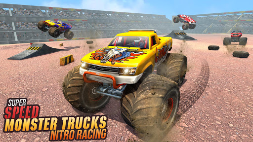 Real Monster Truck Demolition Derby Crash Stunts apkpoly screenshots 1