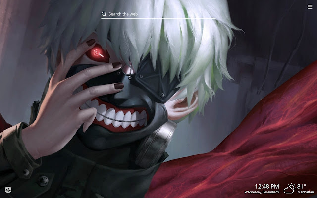 Tokyo Ghoul HD Wallpapers New Tab Theme