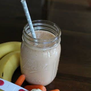 Peanut Butter Vanilla Protein Smoothie.