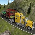 Heavy Truck Trailer 4x4 Cargo Icon